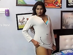 swathi naidu stripping white dress expose blue bra