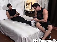 Sexy hunk Trenton Ducati loves in all directions lick increased by suck sexy feet