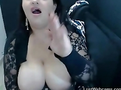 Busty BBW teasing on webcam