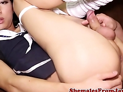 Japanese trans looker assfucking lucky guy