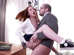 Tricky Old Teacher - Sandra gets tricked into sex by her perverted teacher