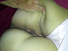 spreading wifes tight asshole and wet pussy close up