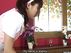 Asian maid takes a sexual program of her old hand
