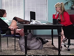 Big-boobed office executive fucks her new employee 13