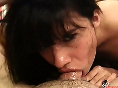 Goth Latina Judas loves sucking cock