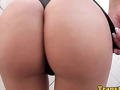 Bigass tranny pounded and creamed on ass