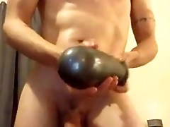 sasha huge dildo toy ramming his ass