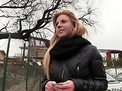 Public Blowjob From Sexy Czech Babe For Dollars 10