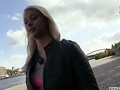 Public Blowjob From Sexy Czech Babe For Dollars 24