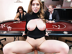 Busty and sexy babe Lena Paul is fucking hard in this agent
