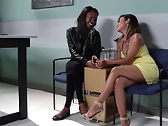 A regular rubdown session turns into a sexy girl/girl threesome