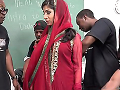 Nadia Ali Learns To Handle A Pack Of Black Dicks