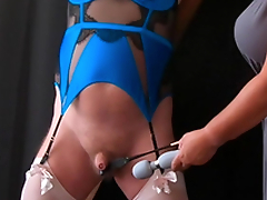 Pleasure Pain - Femdom Mistress CBT Session with Cissy Slave