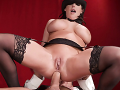 XXX slattern Angela White with tapped nipples is penetrated fast in tushy