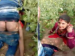 Today Exclusive- Desi village Couple Fulminous While Sex Outdoor