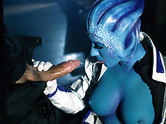 Blue-skinned Rachel Starr is an extraterrestrial who also has XXX needs