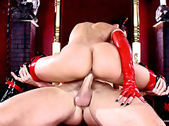 Sinner goes to XXX lower world where succubus Rachel Starr rides his penis