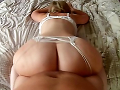 Mom lies on slay rub elbows with bed shaking huge ass before sex here adored XXX positions