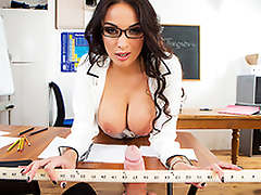 XXX fun with busty teacher Anissa Kate makes the lesson less interesting