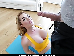 TheReaLWorkout - Busty Babe'_s Cock-Sucking Workout