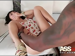 Sweet Japanese Girl Takes Black Cock Up The Ass