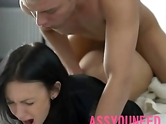 HORNY LOVER FUCKS HOT TEEN BUTT FROM BEHIND assyou
