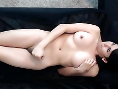 Sexy shemale pleasuring herself